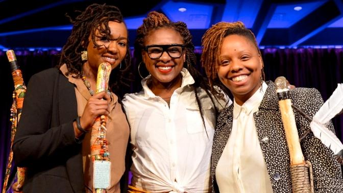 Black Girls Rock award #BlacksLivesMattter with Community Change Agent award
